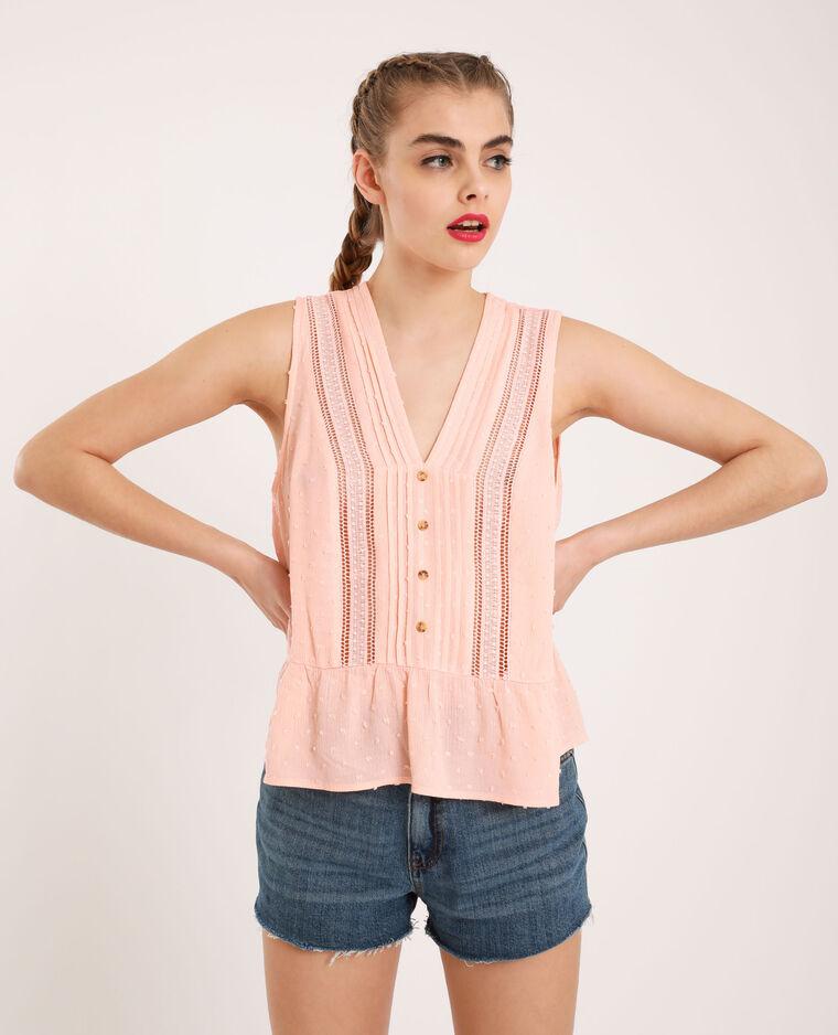 Blusa in plumetis rosa