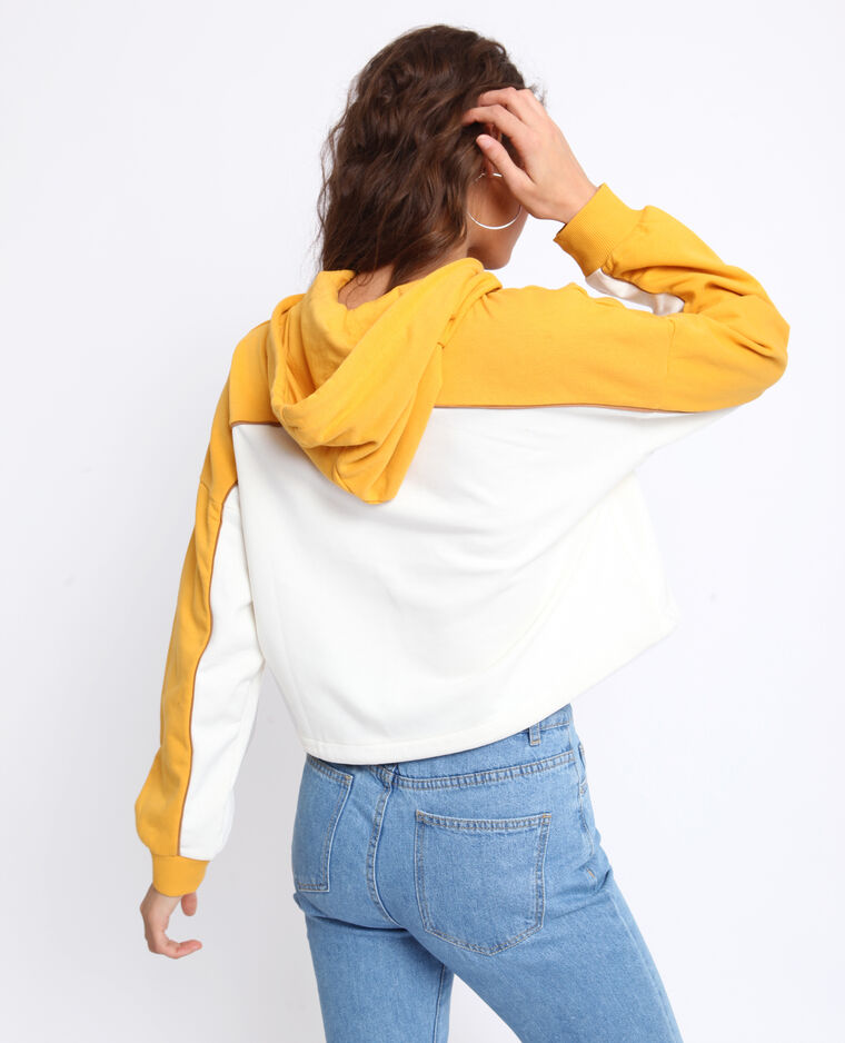 Felpa con cappuccio giallo