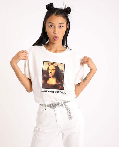 T-shirt con motivo grafico bianco - Pimkie