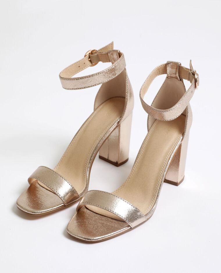 Sandali con tacchi alti dorato