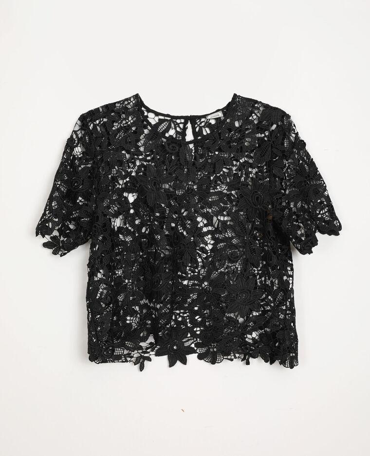 T-shirt in pizzo nero - Pimkie