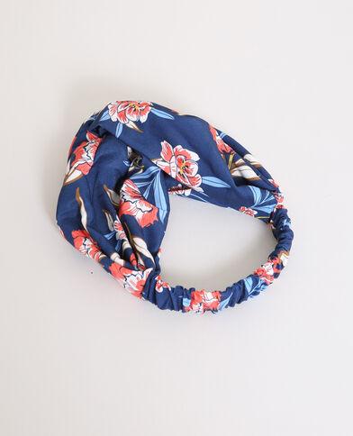 Headband a fiori blu marino