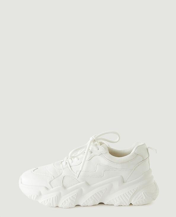 Scarpe da tennis con zeppa bianco - Pimkie