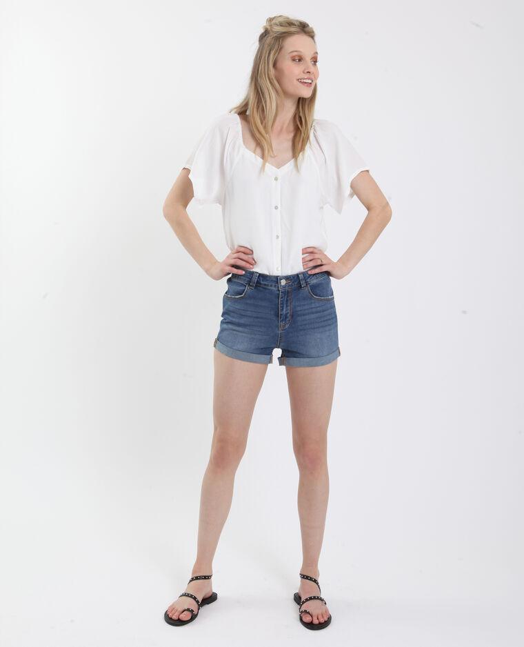 Short in jeans blu denim