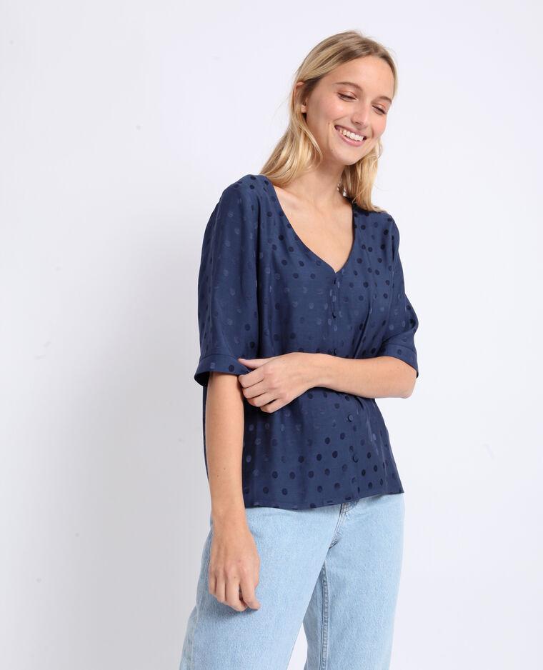 Camicia satinata blu marino