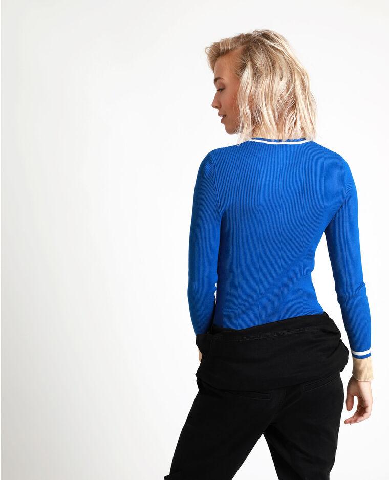 Pull aderente blu