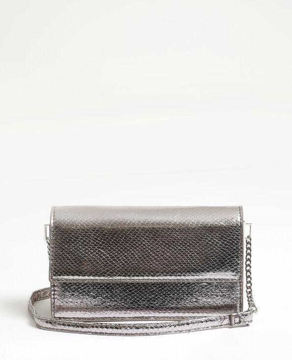 Piccola borsa pitone grigio