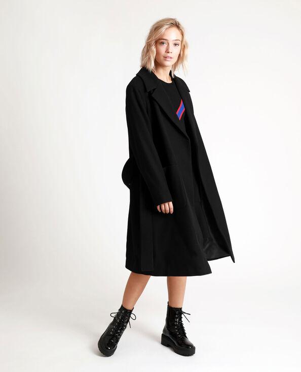 Cappotto in panno di lana nero