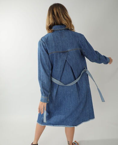 Cappotto lungo di jeans blu