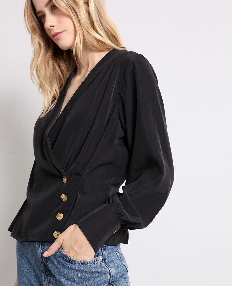 Blusa incrociata nero