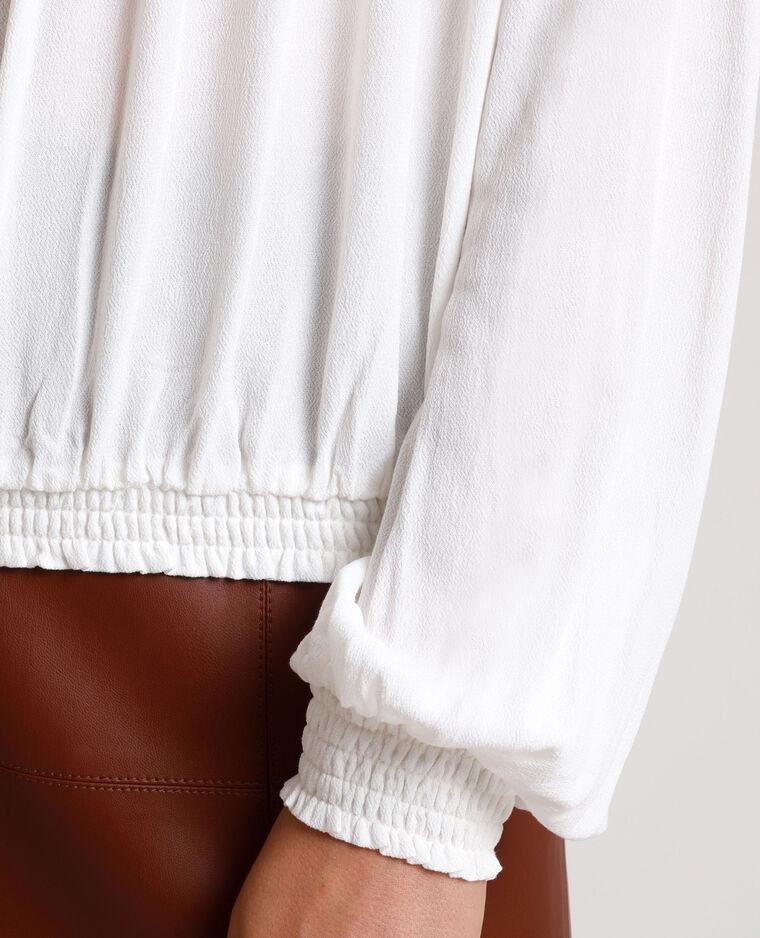 Blusa con ricami bianco sporco