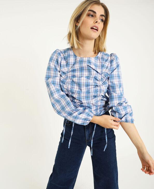 Camicia con arricciature blu - Pimkie