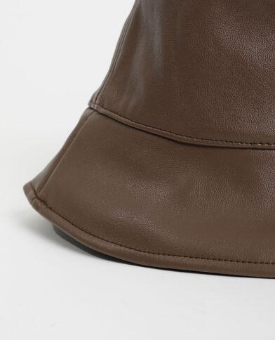 Cappello bob in similpelle marrone - Pimkie