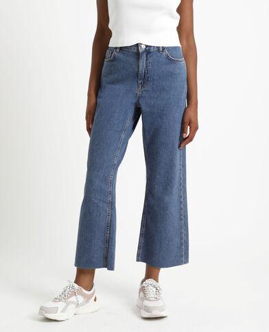 Jeans con gamba larga blu denim