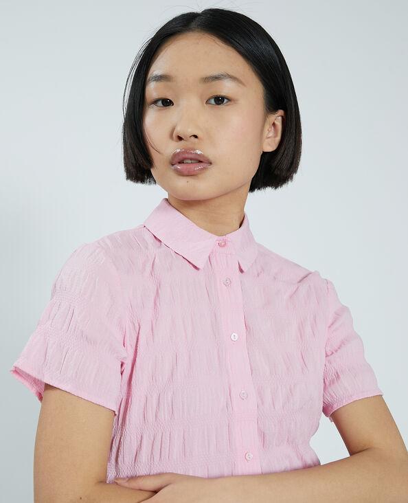 Camicetta effetto goffrato rosa - Pimkie