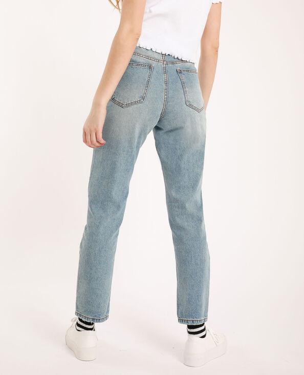 Jeans mom high waist blu delavato