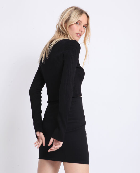 Cardigan corto nero