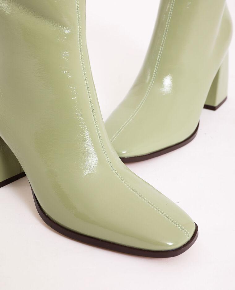 Stivaletti di vernice verde