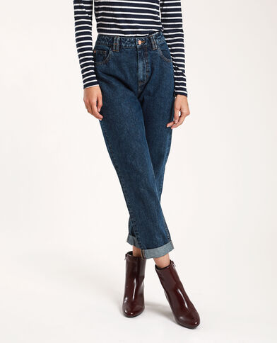 Jeans mom high waist blu grezzo