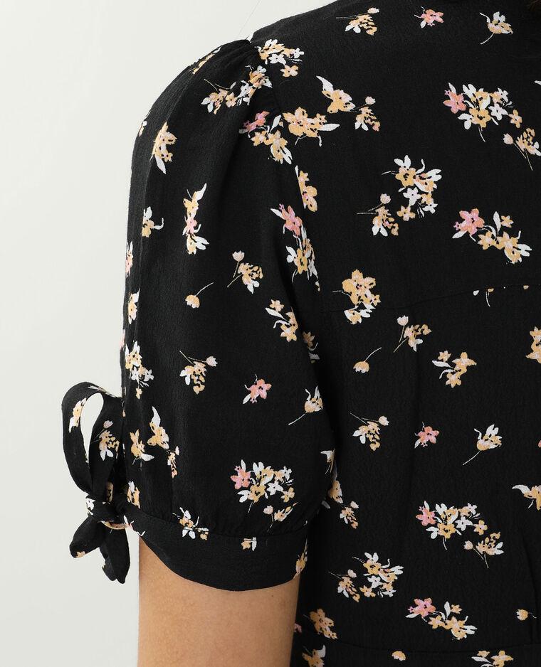 Abito a fiori nero - Pimkie