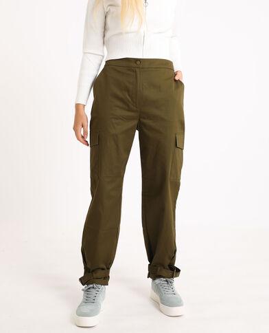 Pantalone cargo kaki