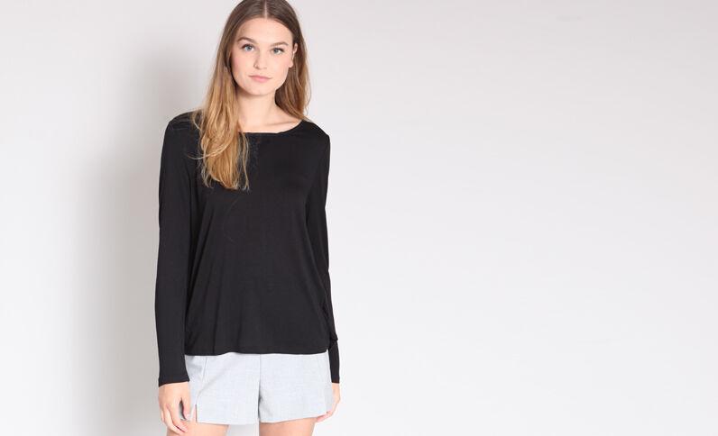 T-shirt in pizzo nero