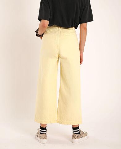 Jeans a gamba larga giallo