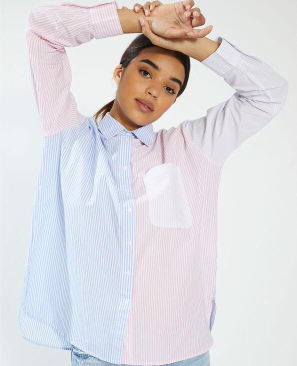 Camicia bicolore a righe rosa - Pimkie