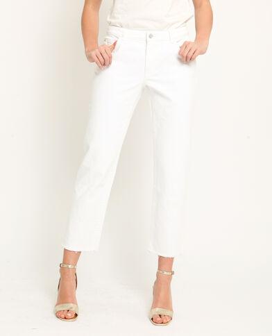 Jeans dritto raw cut écru