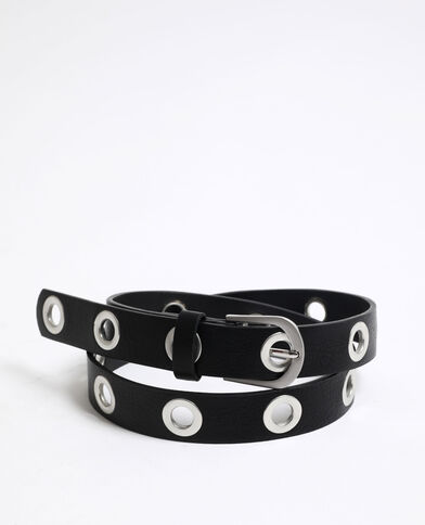 Cintura con occhielli nero