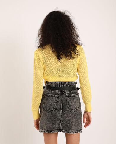 Cardigan corto giallo pallido - Pimkie