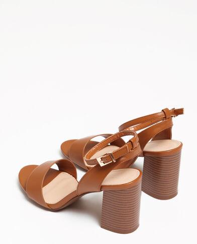 Sandali con tacco largo marrone