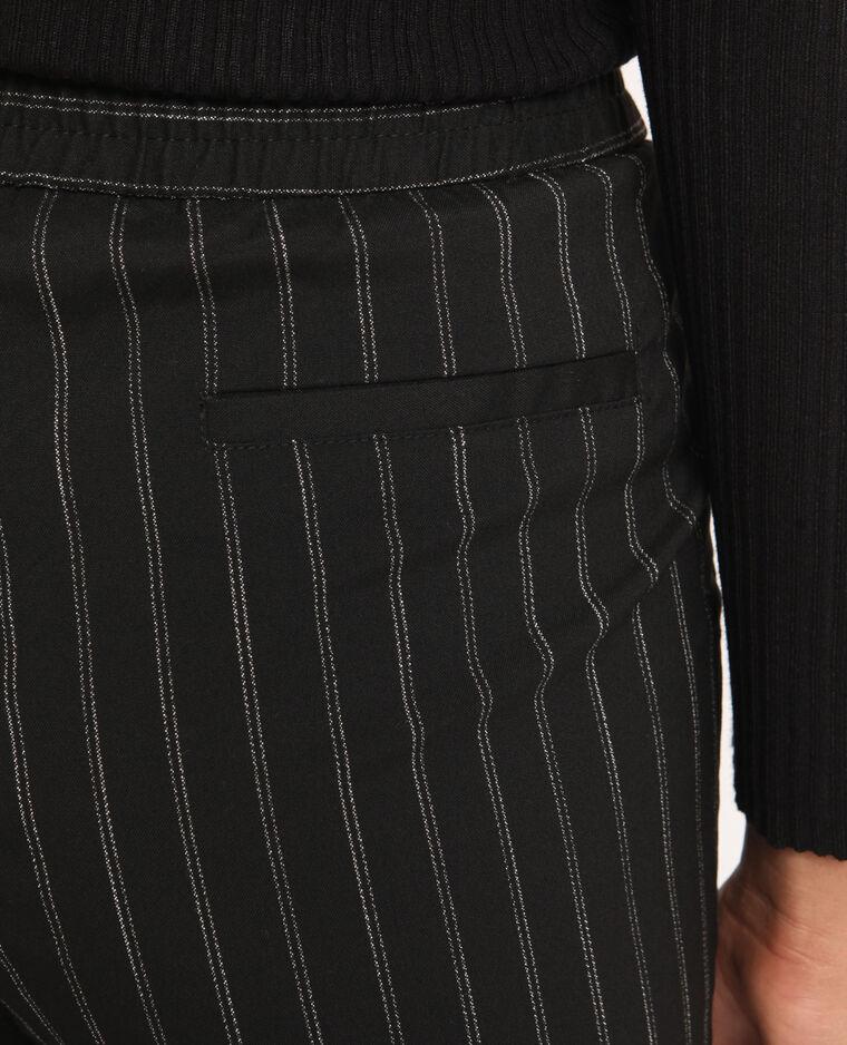 Pantalone city a righe nero