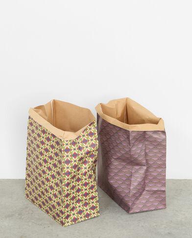 Lotto da 2 sacchetti di carta viola