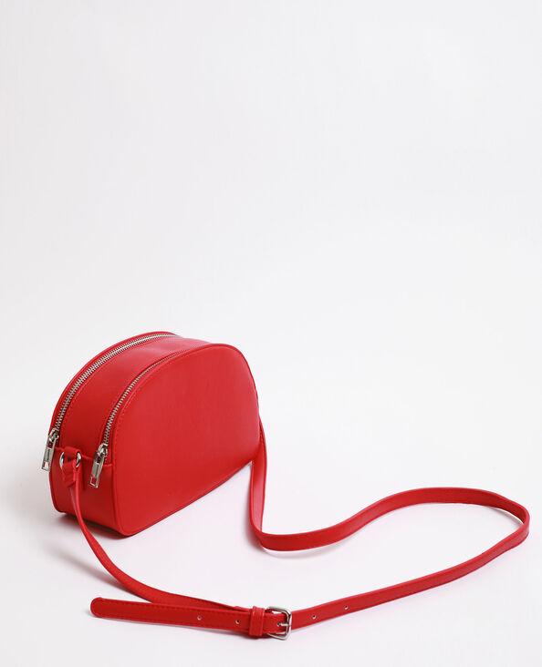Piccola borsa doppia zip rosso