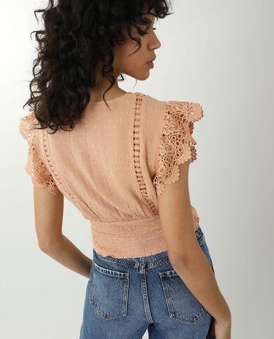 Camicia ricamata arancio - Pimkie