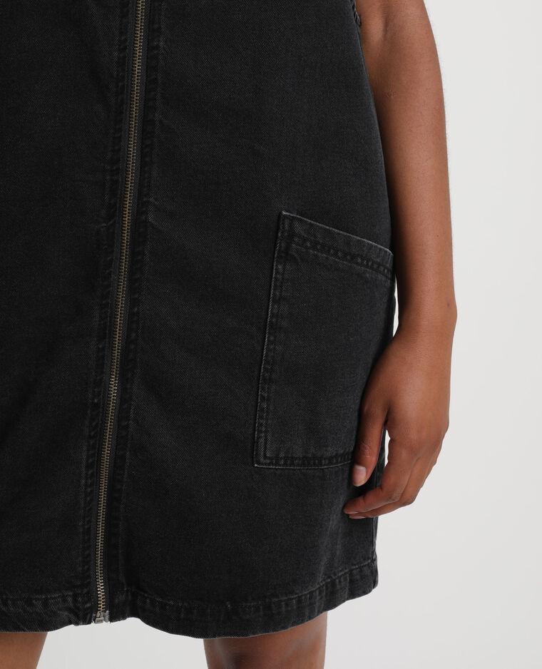 Abito scamiciato in jeans nero