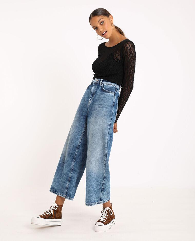Jeans wide leg blu denim