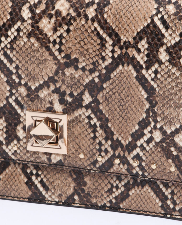 Piccola borsa in pitone marrone