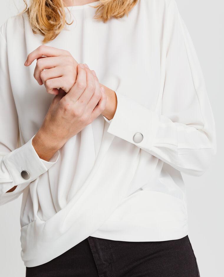 Blusa morbida bianco sporco