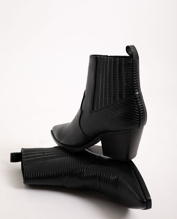 Boots western in similpelle nero