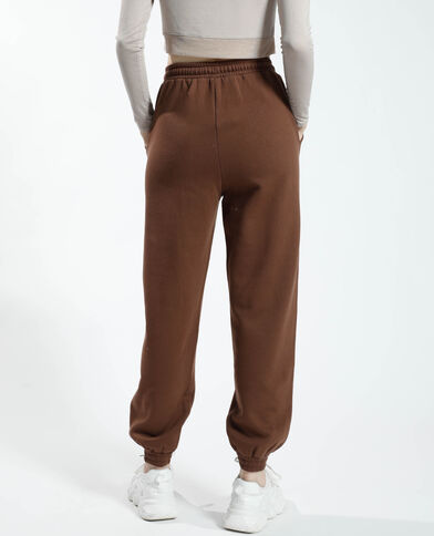 Pantalone da jogging felpato marrone - Pimkie