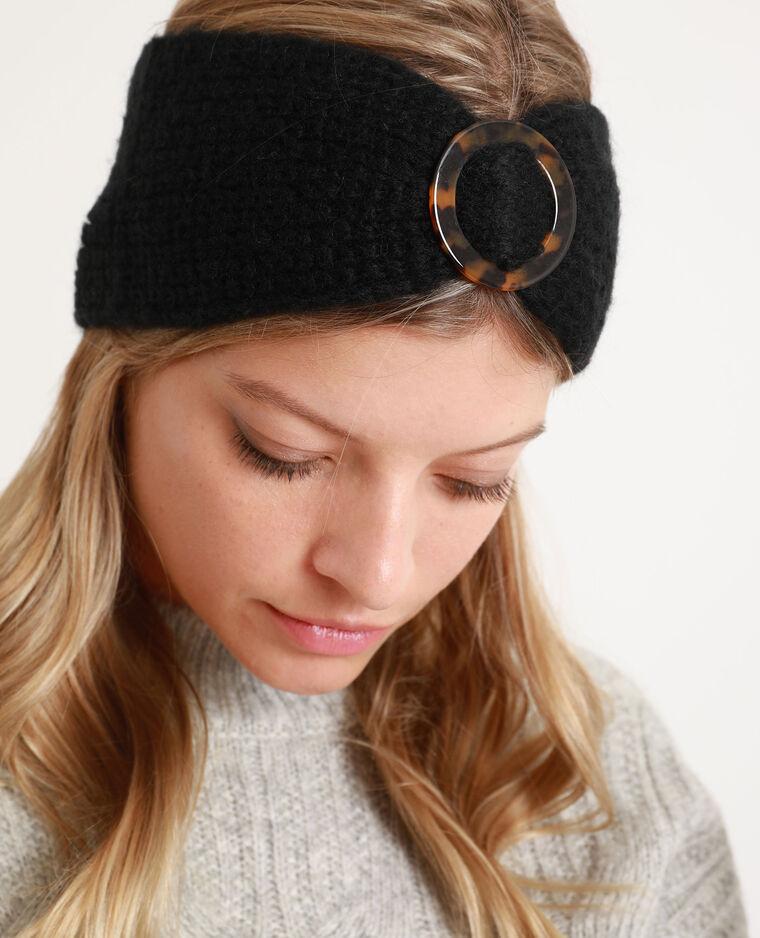 Headband con fibbia nero