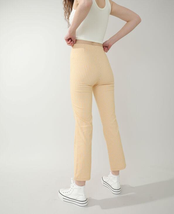 Pantalone flare vichy arancio - Pimkie