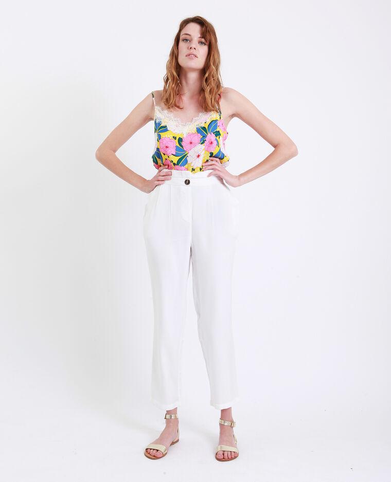 Pantalone a carota bianco