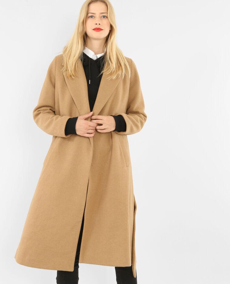 detailed look f6b3c e4c4a Cappotto lungo in panno di lana