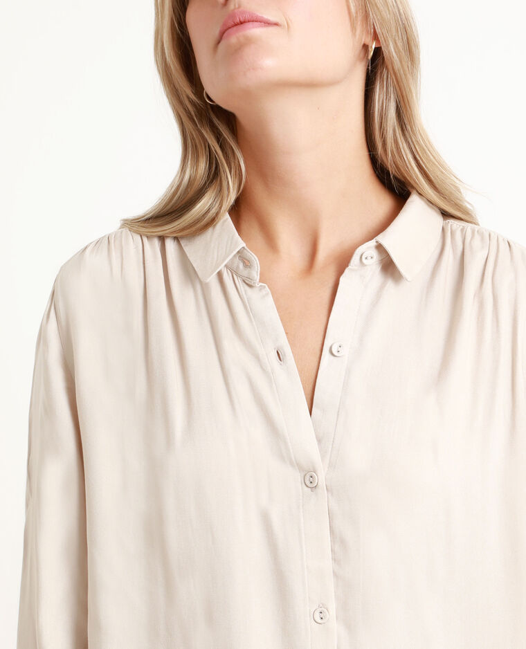 Camicia morbida bianco sporco