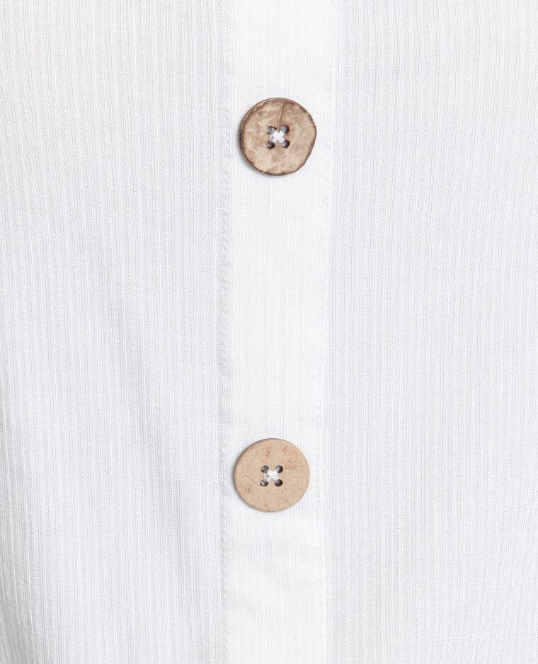 Top con bottoni bianco