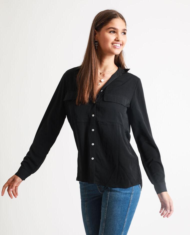 Camicia morbida nero
