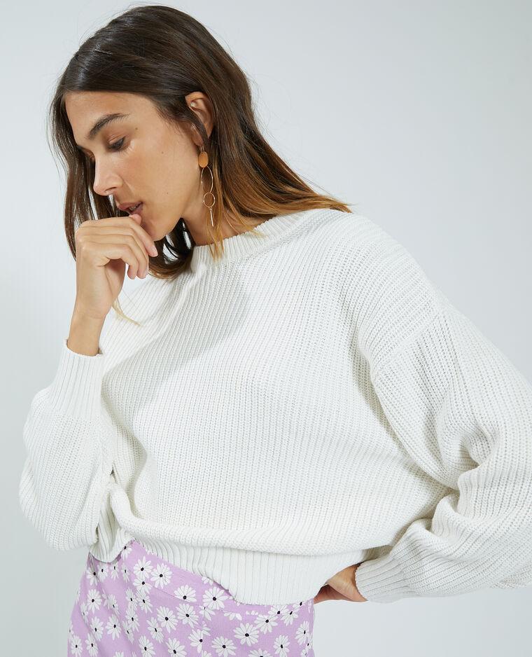Pull in maglia bianco - Pimkie